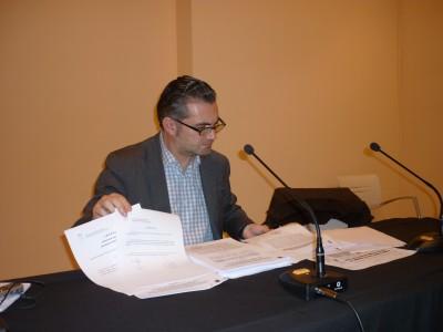 Guerrero en la rueda de prensa