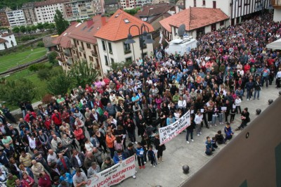 Manifestación minera en Cangas