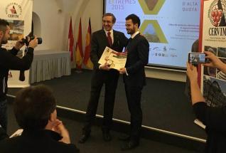 Carlos Ron recoge el premio