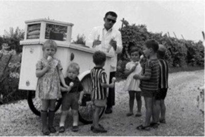 Un carro de helados de aquel entonces