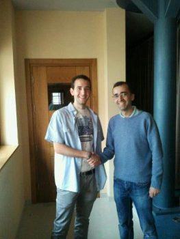 Borja con el alcalde