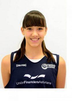 Eva Pardo, jugadora del Oviedo Baloncesto