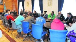 Reunión minera en Cangas