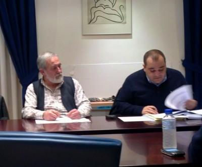 Areces y Martínez en un Pleno
