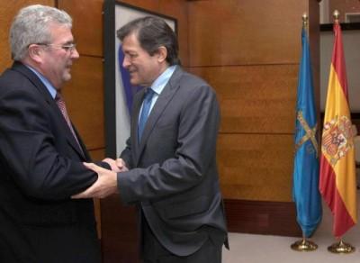 El alcalde con Fernández
