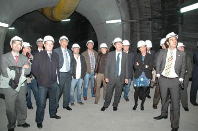 Alonso, empresarios, técnicos y autoridades en la inauguración de Pilotuerto
