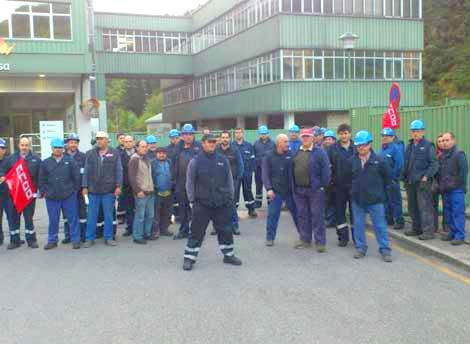 Trabajadores de la empresa auxiliar