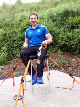 David Fernandez en su puesto de entrenamiento.