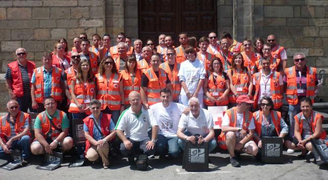 Cruz Roja con el alcalde cangués