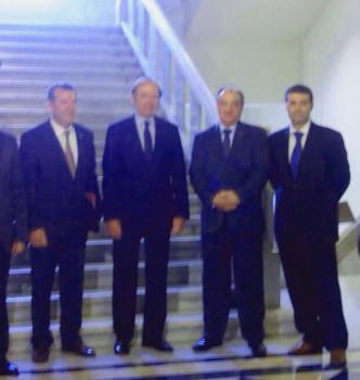 Fontaniella, a la derecha, en el Senado