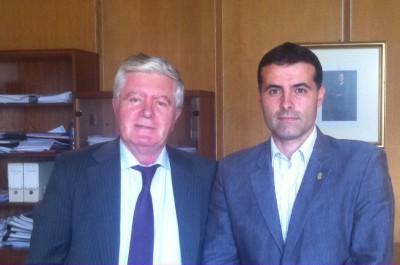 Benítez y el alcalde cangués
