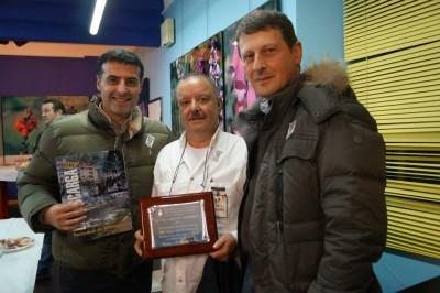 Los alcaldes de Cangas y Tineo con Fernández (centro)