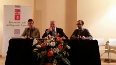 Marcos, Blanco y J. Víctor en Cangas
