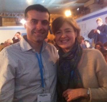 El alcalde con la ministra