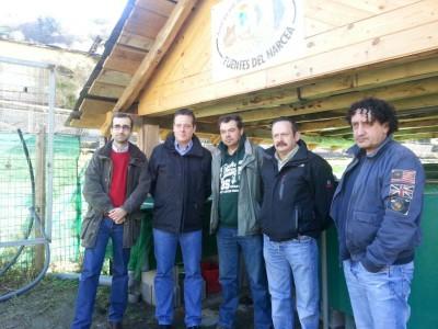 Pescadores con miembros del PSOE