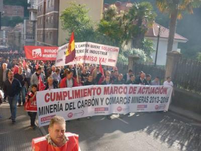 MANIFESTACION MINERA EN CANGAS DEL NARCEA