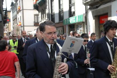 La Banda en la procesión mañanera del 16