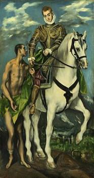 El Greco.- San Martín y el mendigo
