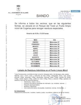 Bando - 2016.01.11 - Punto limpio móvil