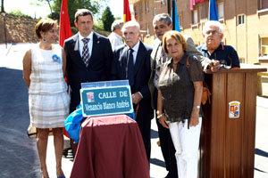 Inauguración de su calle en Tineo