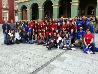 El alcalde con estudiantes de Boston