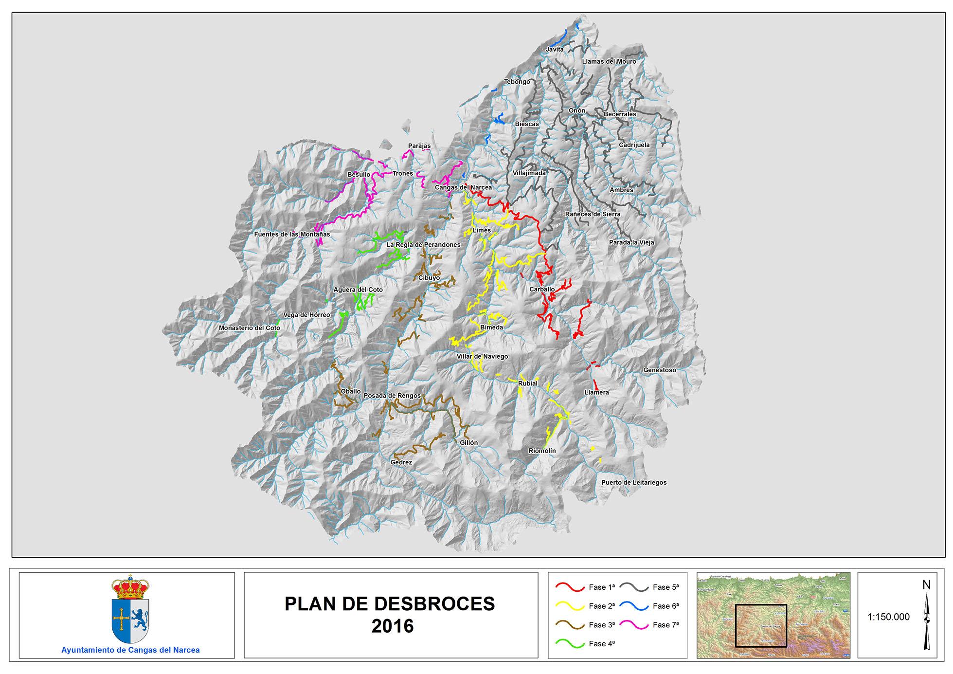 CANGAS DEL NARCEA.- Plan de desbroce en vías del concejo