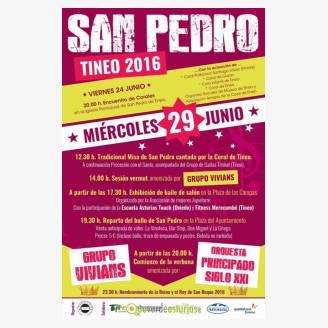 TINEO.- Ultimado el programa de actos de las Fiestas de San Pedro