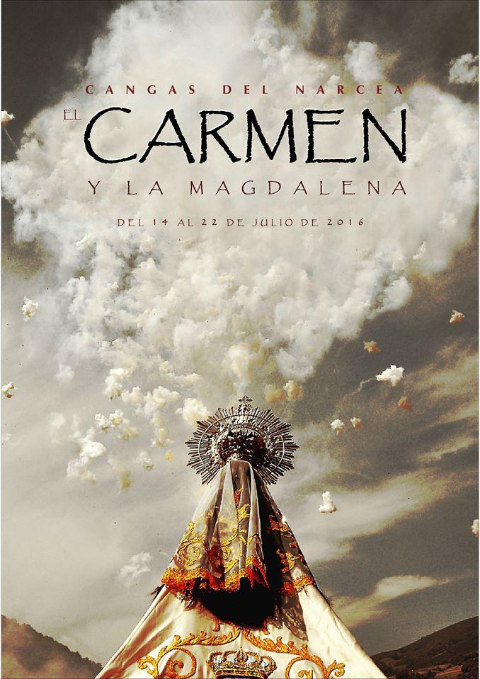 CANGAS DEL NARCEA.- Cartel anunciador del Carmen.