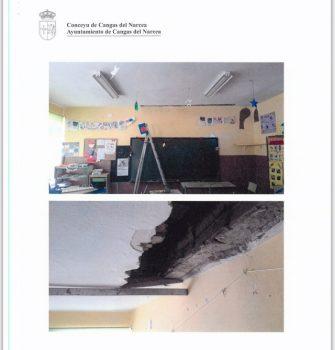 Daños en la escuela de Cibuyo