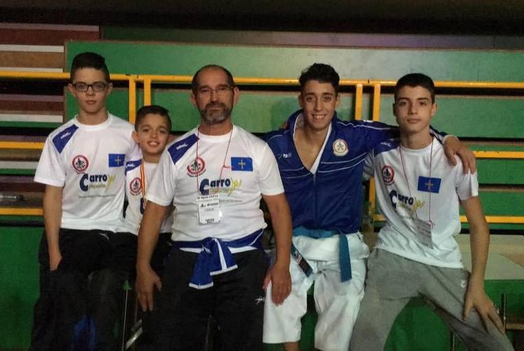 CANGAS DEL NARCEA.- Éxito del karate cangués en Guadalajara