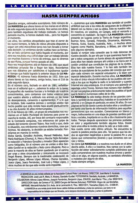 CANGAS DEL NARCEA.- Más opiniones sobre el cierre de La Maniega