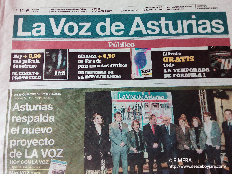 Tal día como hoy. La Voz de Asturias