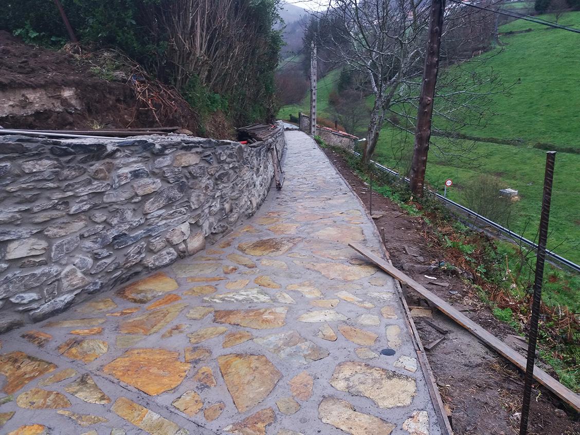ALLANDE.- Mejoras en el Camino de Santiago a su paso por el concejo