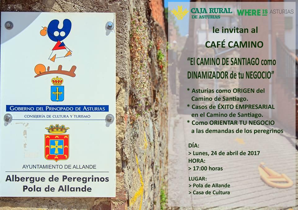 """ALLANDE.-El programa """"Café Camino"""" como dinamizador de la economía llega hoy a la Pola"""