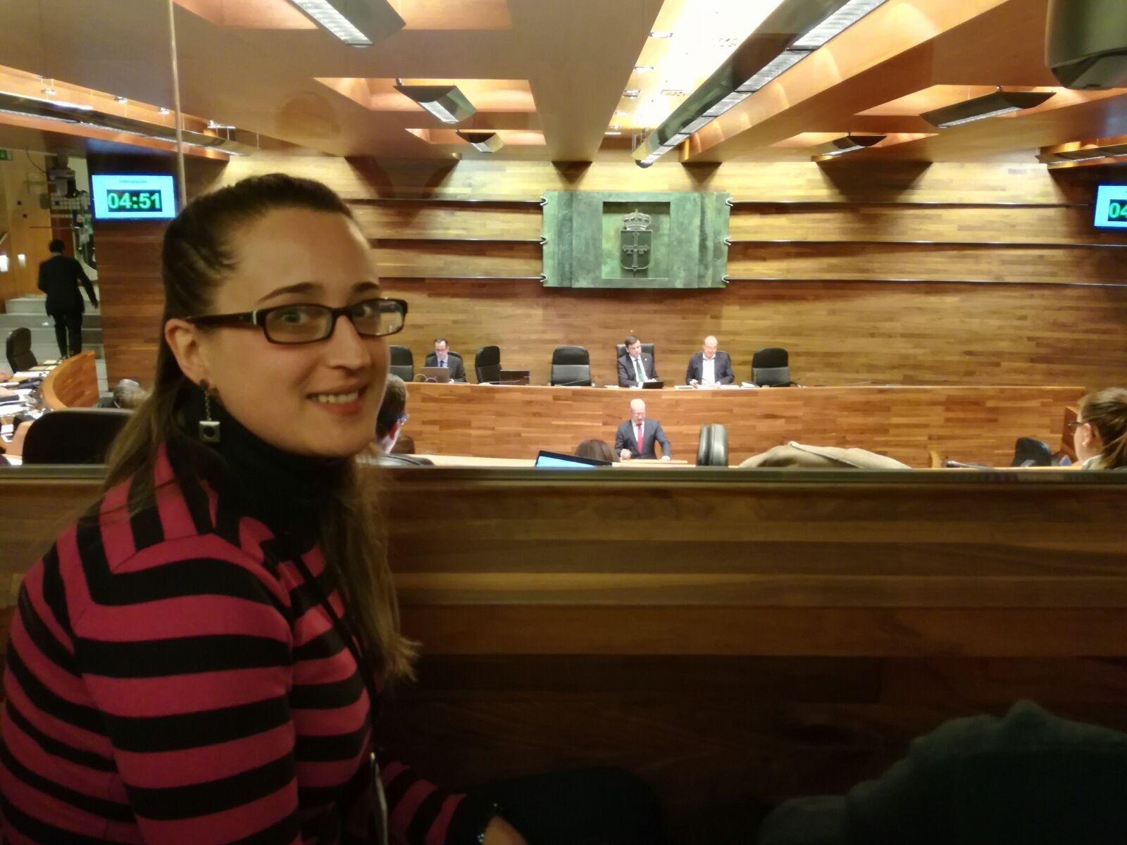 CANGAS DEL NARCEA.- La canguesa Cristina Vega, coordinadora del PP en el Suroccidente