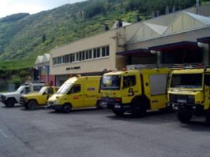 CANGAS DEL NARCEA.- Los bomberos de Cangas, los de más salidas de Asturias