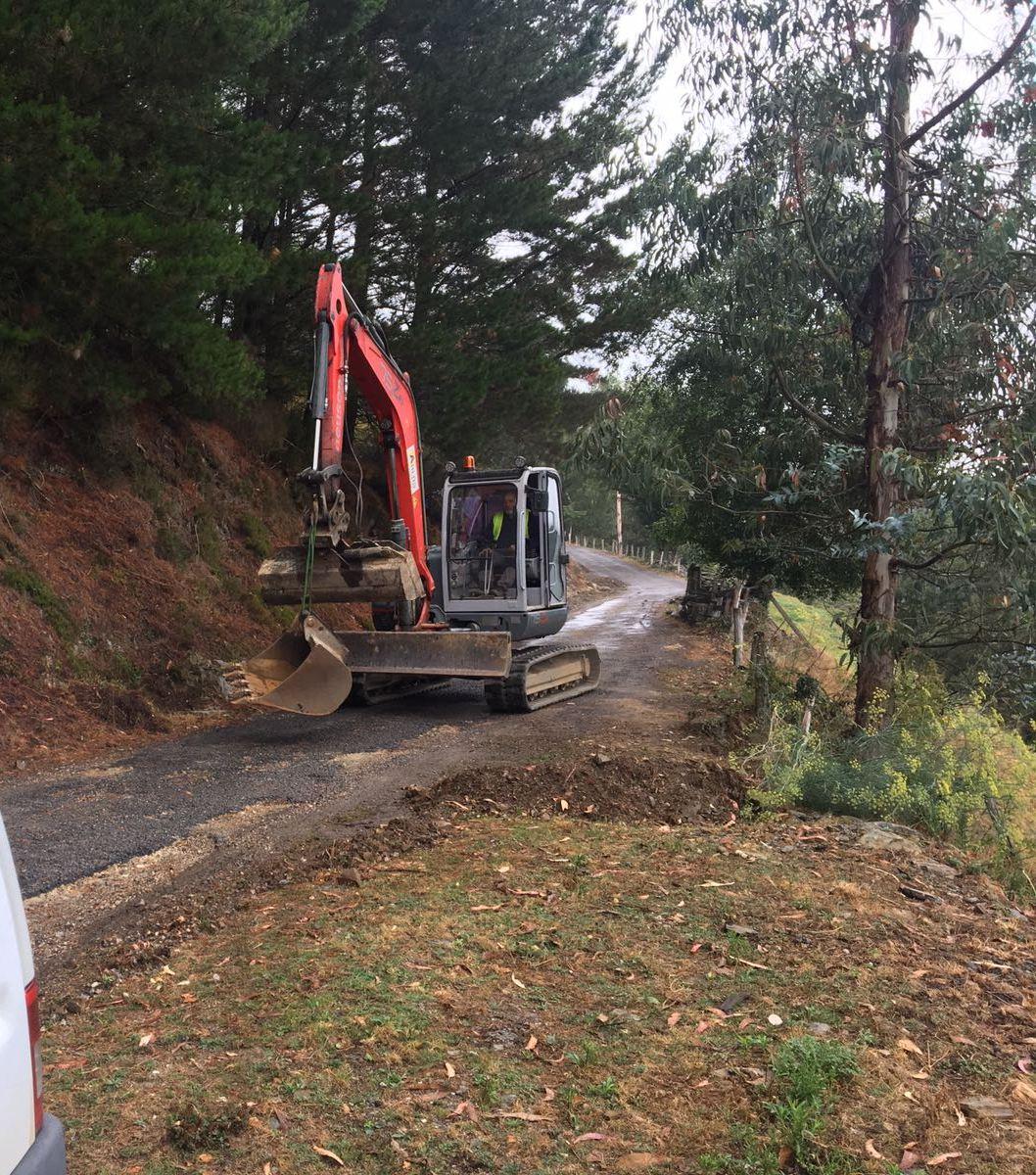 ALLANDE.- Inicio de las obras de acondicionamiento de los accesos a Santa Coloma