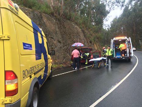 CANGAS DEL NARCEA/TINEO.- Mujer herida en accidente en Calabazos