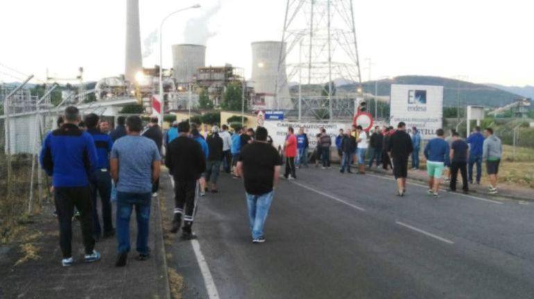 TINEO.- Los mineros de Tineo se reincorporan al trabajo