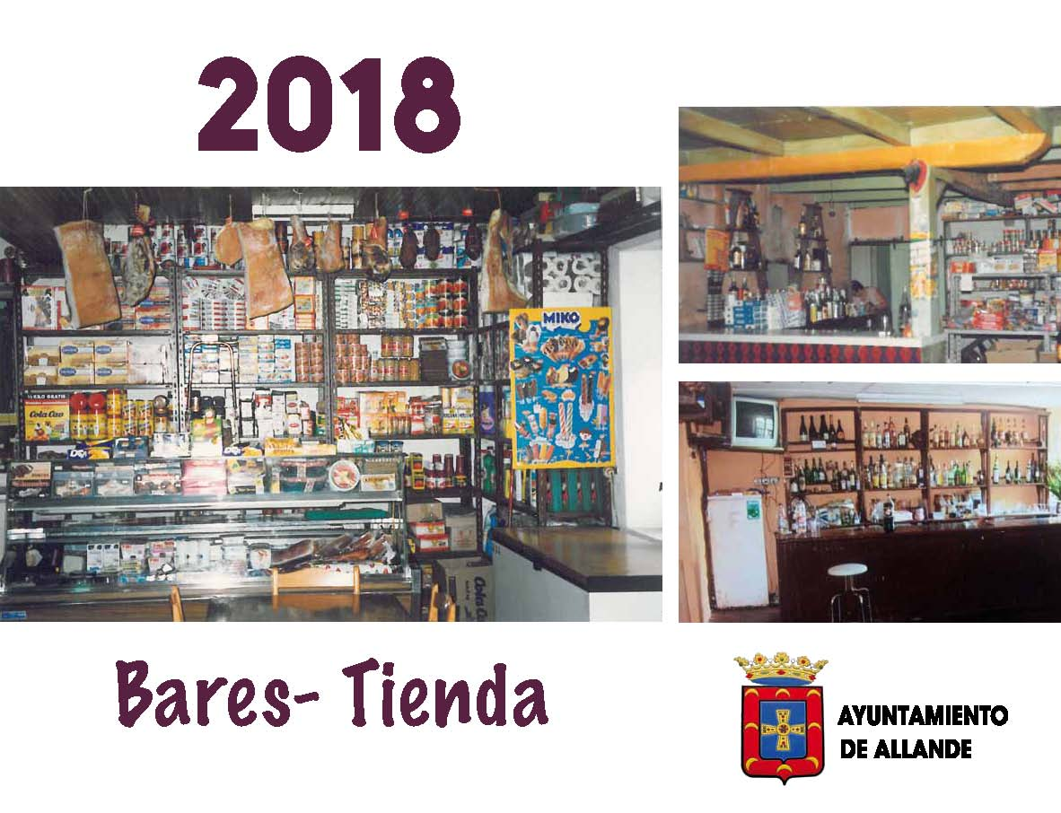 ALLANDE.- Un calendario de tiendas y bares