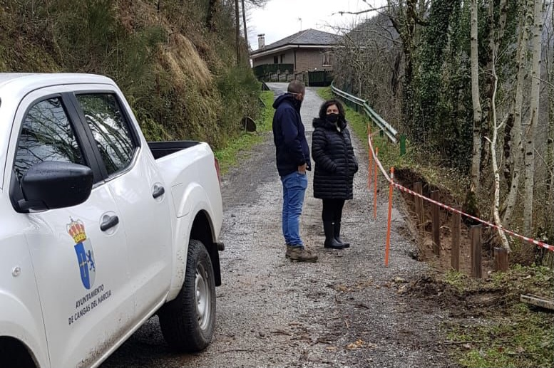 Se inician las obras para sostener el vial de Obacho