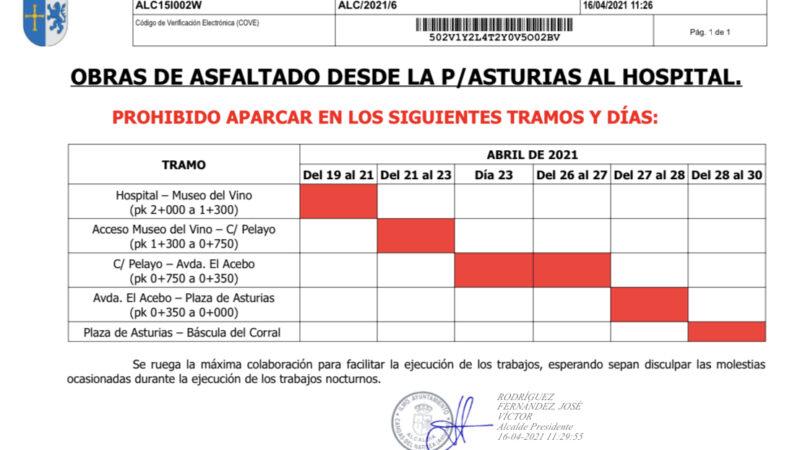 Cangas inicia la pavimentación de la travesía entre el hospital y la plaza de Asturias