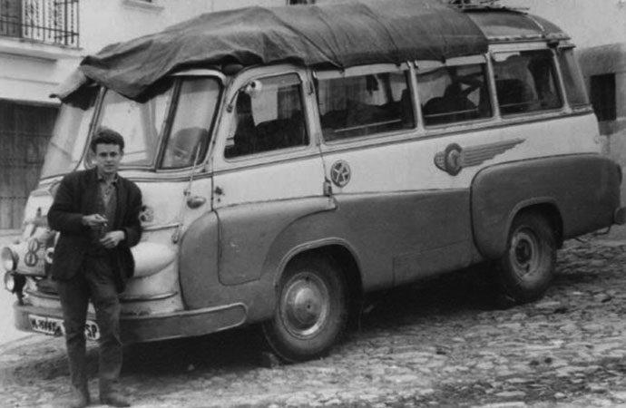 La foto y su pie:El coche de Merino