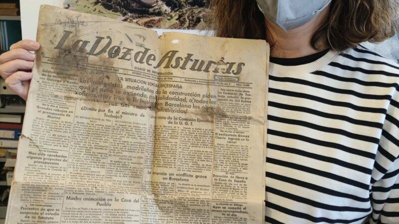 Donado al municipio un ejemplar de 'La Voz de Asturias' de 1934