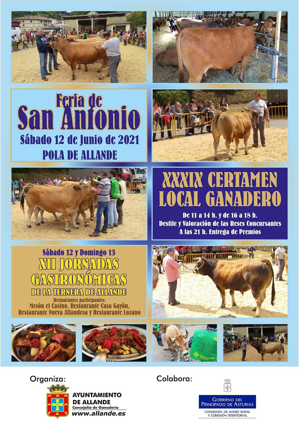 Allande. El sábado Feria de San Antonio