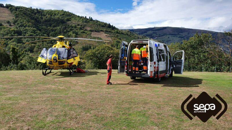 Accidente en Tebong:tres heridos